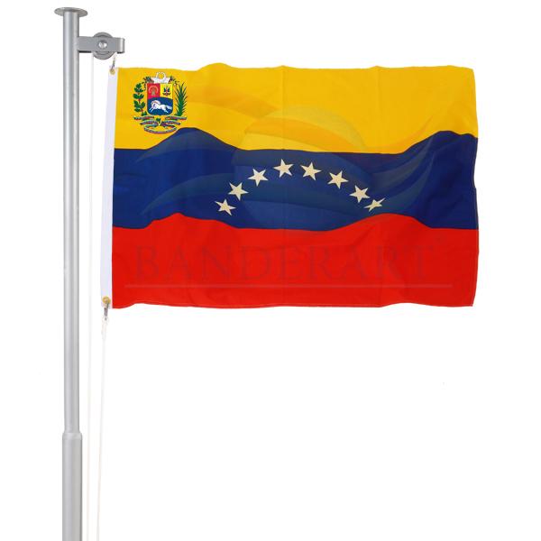 Bandeira da Venezuela (com brasão)