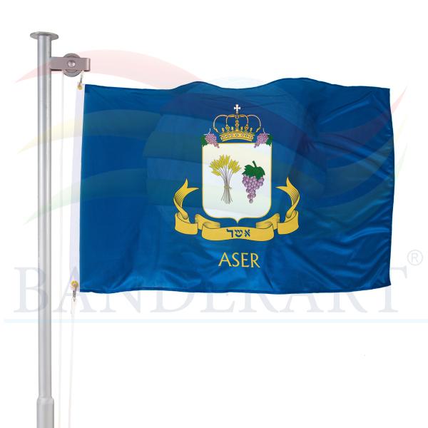 bandeira da tribo de Aser