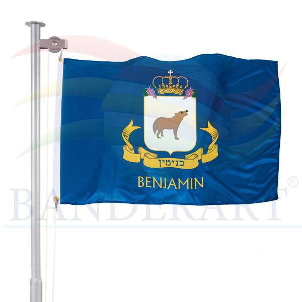 bandeira da tribo de Benjamin