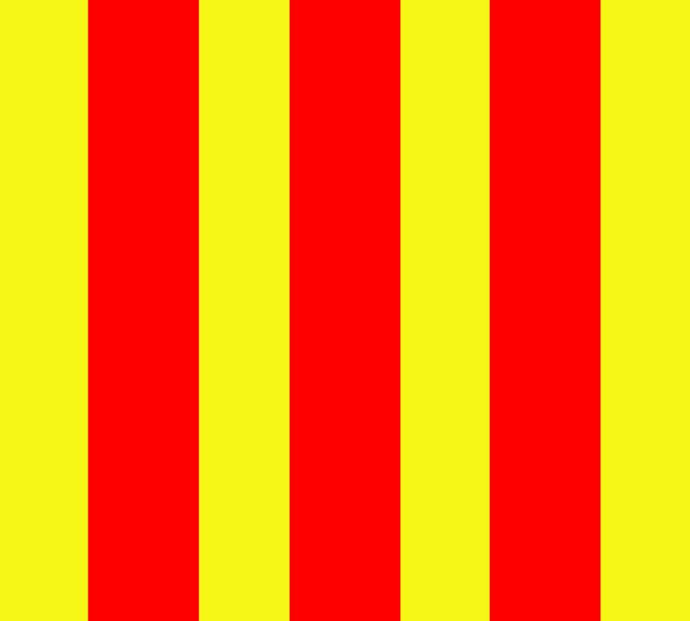 Bandeira Listrada Vermelha e Amarela
