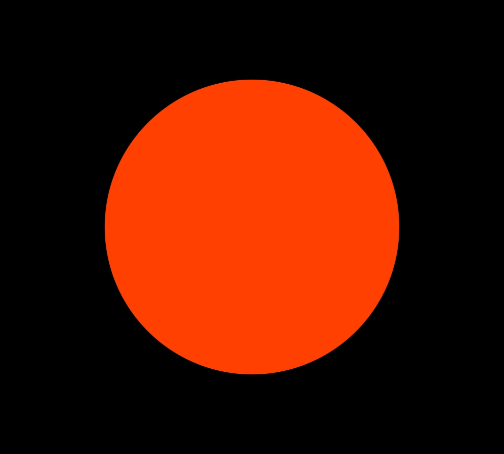 Bandeira Preta com Circulo Laranja