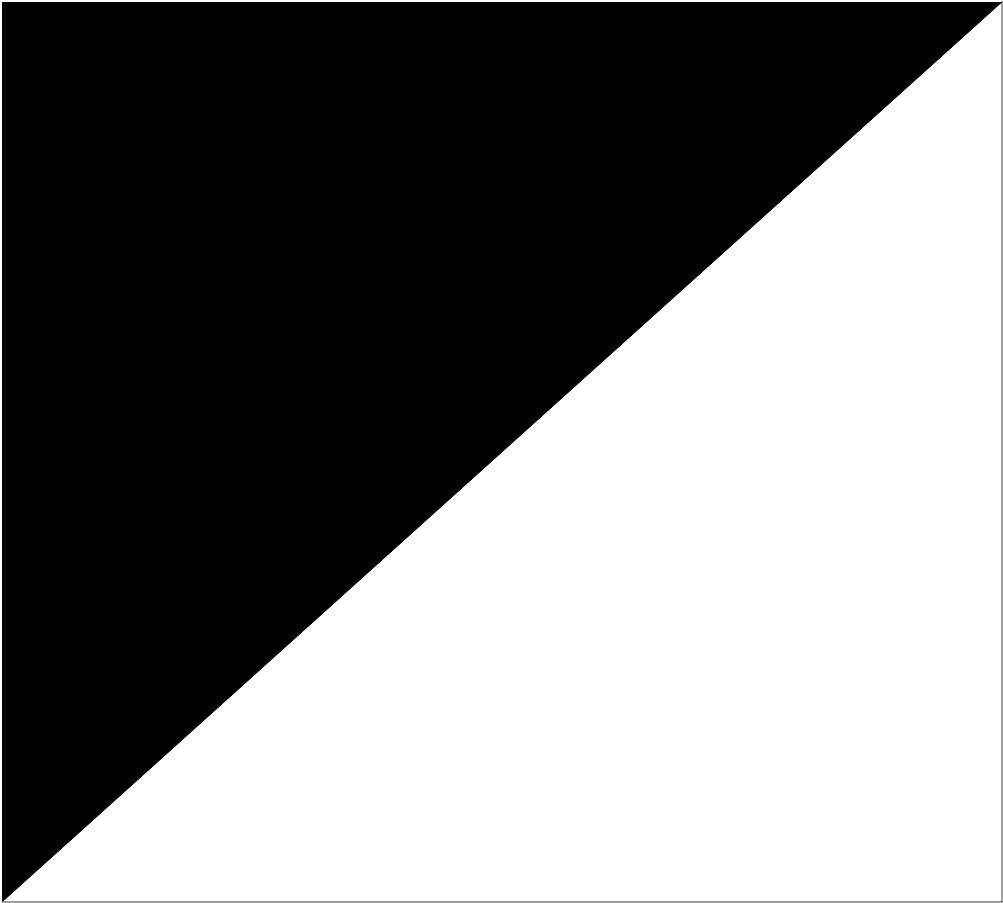 Bandeira Preta e Branca em Diagonal